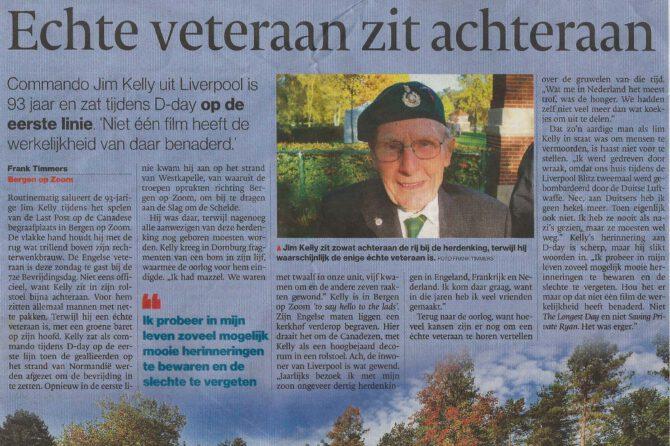 """Artikel BNDeStem: """"De echte veteraan staat achteraan"""" en reactie voorzitter VOC Bergen op Zoom"""