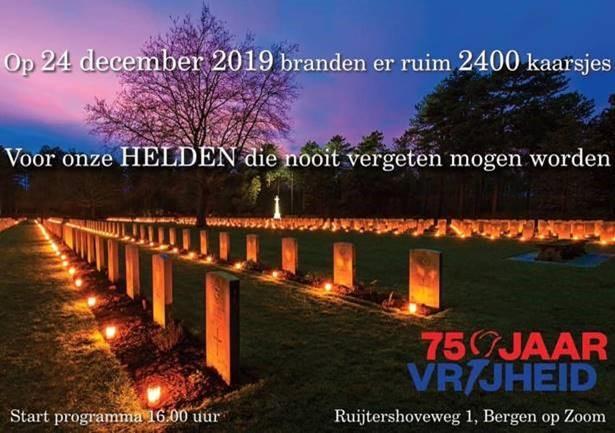 Lichtjes bij de oorlogsgraven 24 december 2019